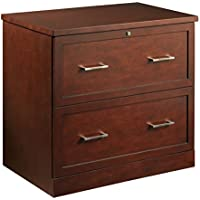 Realspace Premium 2-Drawer Lateral File Cabinet (Mahogany)