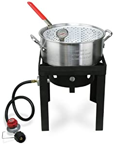 Cajun injector fish fryer welded deep for Cajun fish fryer