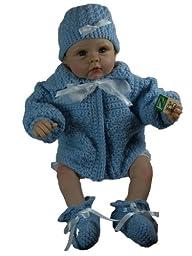 Baby Sweater Set, Size 0-6 Months (blue) Handmade