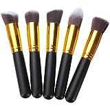 10Pcs Black Synthetic Cosmetic Makeup Tool Blush Powder Brush Set Kit - B01D355ZDK