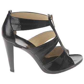 Michael Michael Kors Women'S Berkley T-Strap Sandal,Black Crinkled Patent,8 M Us