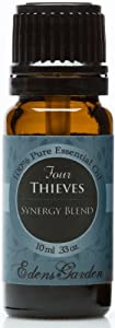 Four Thieves Synergy Blend Essential Oil- 10 ml (Cinnamon, Clove, Eucalyptus, Lemon and Rosemary)