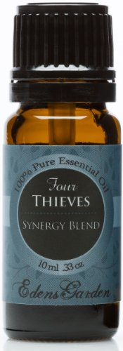 Four Thieves Synergy Blend Essential Oil by Edens Garden - 10 ml