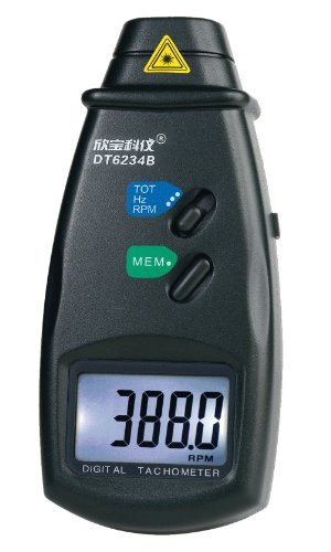 Sampo Sm6234E Handheld Non-Contact Photo Electric Photoelectric Pro Laser Tachometer Rpm Meter Speed Tester Storage Function