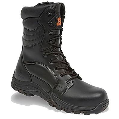 INVINCIBLE BLACK S3 HI-LEG ZIP SIDE WATERPROOF BOOT SIZE 04