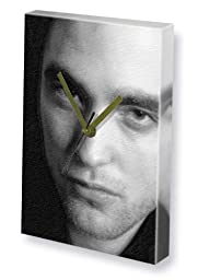 ROBERT PATTINSON - Canvas Clock (A4 - Signed by the Artist) #js004