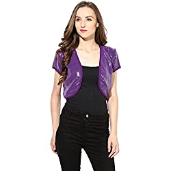 Short Shrug In Purple Color Sequin