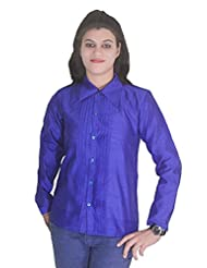 Selfi Regular Design Blue Casulas Top For Outdoors Womens And Girls_JVT0093