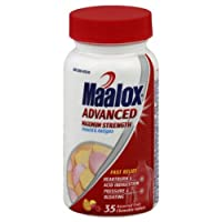 "MAALOX Advanced Maximum Strength Antacid Antigas 35 ct. Chewable Tablets, Assorted Fruit Flavor (Health and Beauty) By NOVARTIS CONSUMER HEALTH          Click for more info     Customer Rating:       First tagged ""acid reflux"" by Dian Abbott"