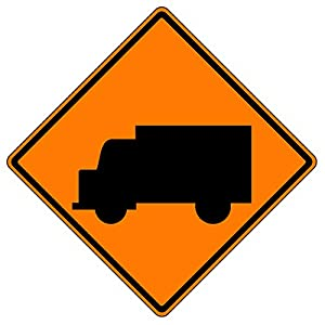 MUTCD W11-10 Truck Orange Sign, 3M Reflective Sheeting, Highest Gauge Aluminum,Laminated, UV Protected, Made in U.S.A
