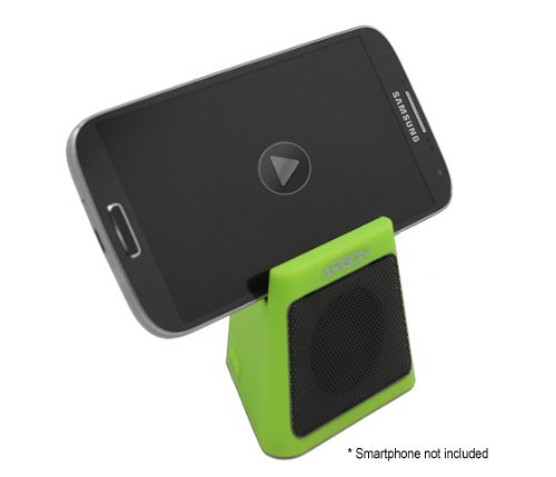 Argon Bluetooth Wireless Portable Mini Speaker For All Iphone, Ipod, Ipad, Blackberry, Android Smartphones And Mp3 Players. Rechargeable Built-In Battery, Serves As A Stand For Phone And Small Tablets [Green]