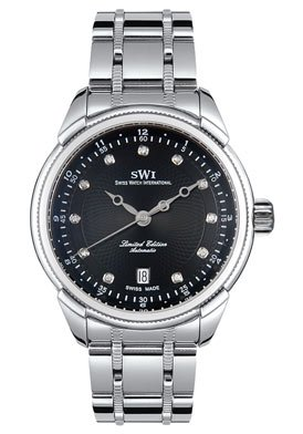 Swiss Watch International Men's Limited Edition Collection Automatic Diamond Watch A9243.SBSD