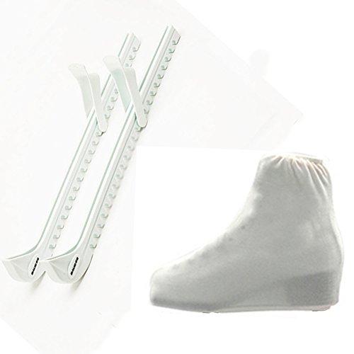 Kufenschoner Gummi für Schlittschuhe Elastische Verschleißfestigkeit wasserdicht Ice Blade Cover and Ice Skate Boots Cover, 3 Farben vorhanden, SWAMPLAND
