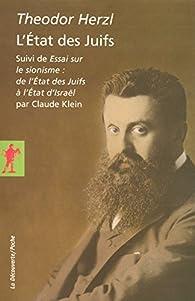 L Etat Des Juifs Theodor Herzl Babelio
