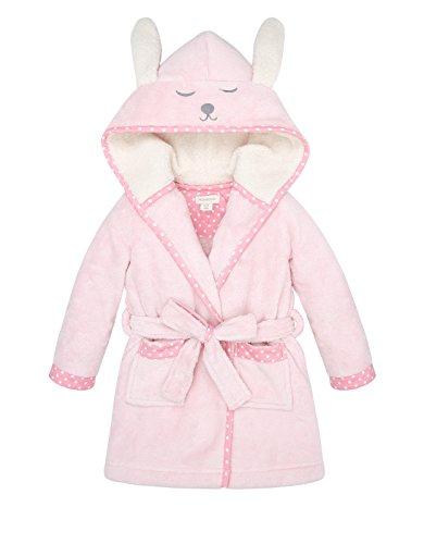 Monsoon Baby Girls' Sleepy Bunny Bedtime Rose Robe Size 18-24 Months Pink