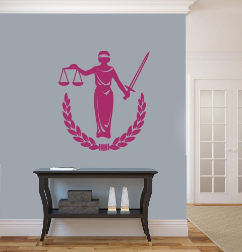 Housewares Wall Vinyl Decal Law And Justice Woman Figure Statue People Interior Home Art Decor Kids Nursery Removable Stylish Sticker Mural Unique Design For Any Room front-1002901