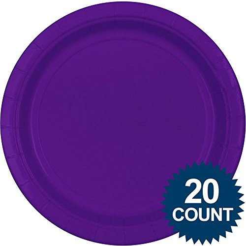 "10 1/2"" Purple Paper Plates 20 per pack"