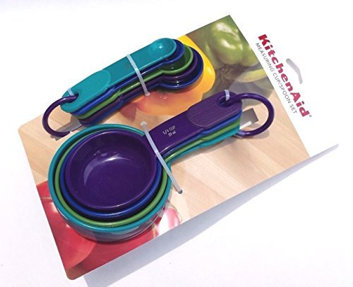KitchenAid Measuring Cups and Spoons Set, Multi Colored (Kitchen Aid Measuring Spoons compare prices)