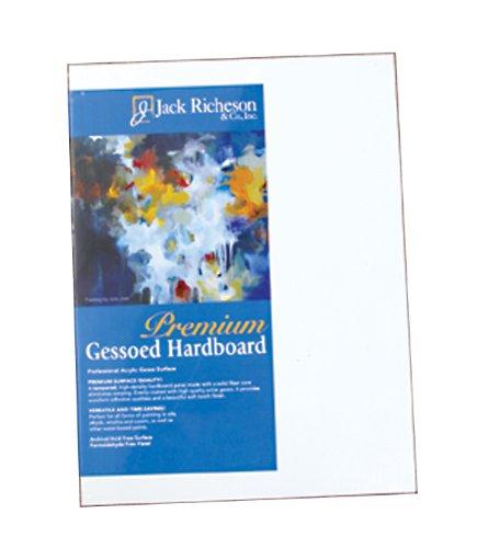 Jack Richeson 1/8-Inch Premium Tempered Gessoed Hardboard Panel, 24 by 36-Inch