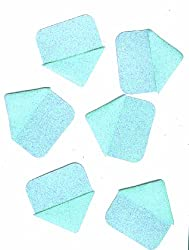 Martha Stewart Crafts Photo Corners, Pale Blue Glitter