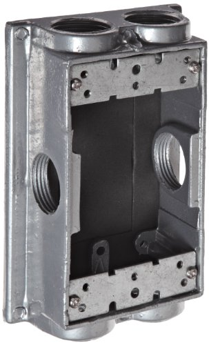 Images for Morris Products 36550 Weatherproof One Gang Flanged Box Extension Adapter, 6 Outlet Holes, Gray, 5-1/4