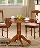 Double Drop Dining Table - Medium Brown Finish
