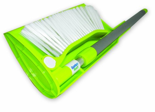 BestBroom RB-DP Compact Reach Broom with Telescoping Handle and Attachable Dustpan