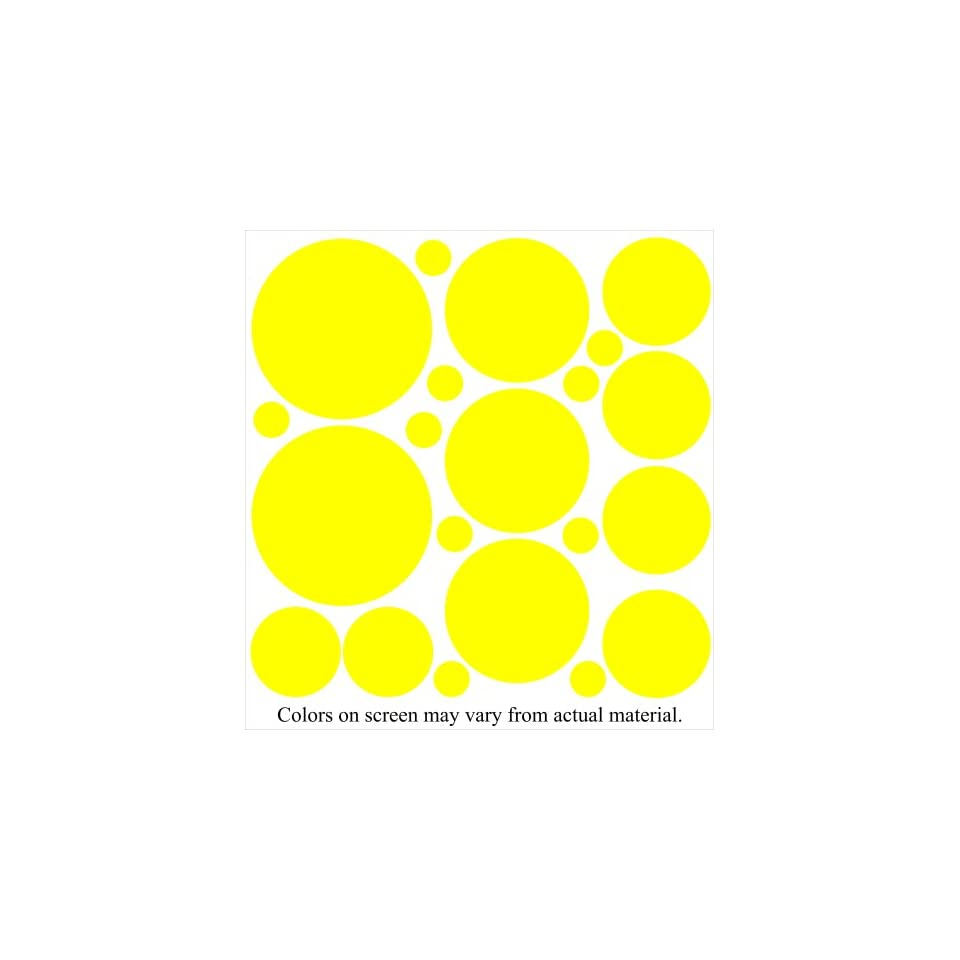 Yellow Polka Dot Wall Stickers Decals Mural Words