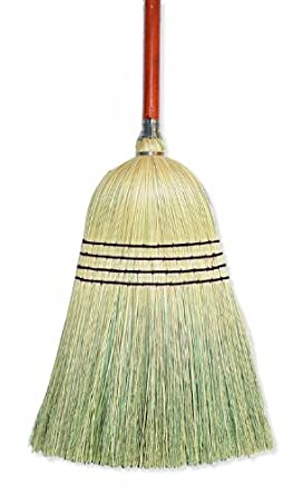 "Wilen E502028, Warehouse Corn Blend Broom with 1-1/8"" Handle, 28# Size, 56"" Length (Case of 6)"