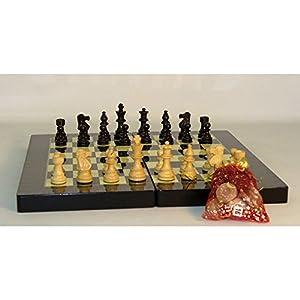 Amazon.com: Black Geometric Decoupage Backgammon/Chess Set