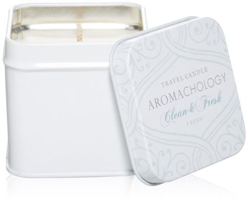 AROMACHOLOGY Soy Wax Travel Candle, Clean & Fresh