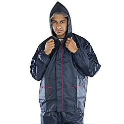 Newera Galaxy Reverseable Impenetrable Moisture Barrier Solid Mens Raincoat