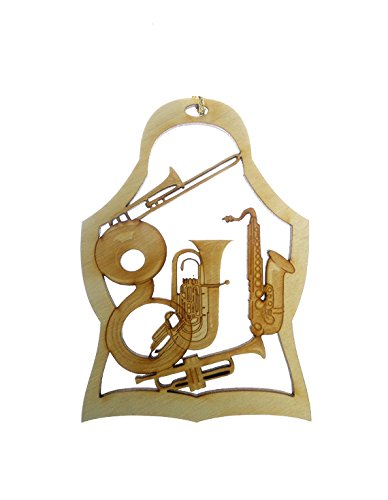 Brass Instrument Ornament - Saxophone, French Horn, Trumpet, Trombone and Sousaphone - Musician Ornaments