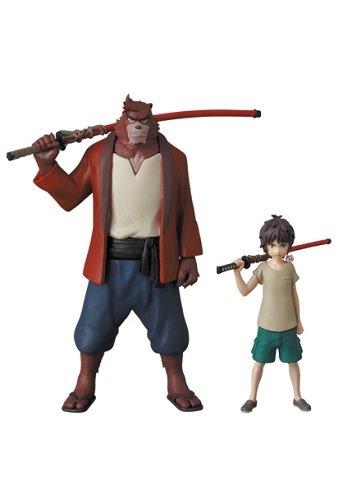 Le Garçon et la Bête [Bakemono No Ko] Anime Petite Figurine 110mm (Kumatetsu) 63mm (Ren Kyuuta)