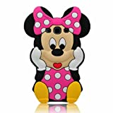 For Samsung Galaxy S3 i9300 SIII Disney Minnie Mouse 3D Cute Doll Soft Silicone Case Cover (Class 2)