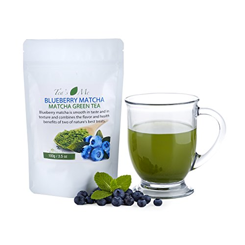 Blueberry Matcha Green Tea Powder Organic Japanese Culinary Matcha Tea w/ Natural Blueberry Extract- Great for Tea, Smoothies or Latte - 3.5 oz (Green Tea Wine compare prices)
