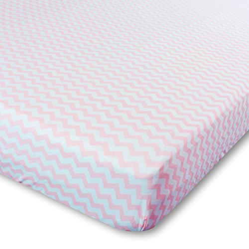 crib sheets set 2 pack pink fitted soft jersey cotton crib mattress sheet baby bedding in pink chevron u0026 polka dot by ziggy baby best baby shower