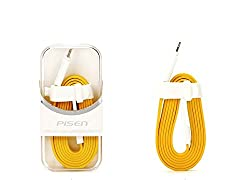 Noise Pisen High Quality iPhone 5 Lightning Cable 8 Pin USB Charger (YELLOW)