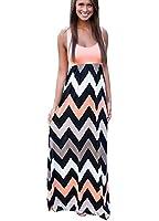 C2U Women Summer Maxi Boho Stripe Long Skirt Evening Cocktail Party Dress