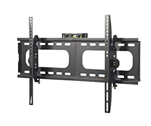 VonHaus by Designer Habitat PREMIUM TV Wall Mount for 33 - 60 inch LCD, LED, or Plasma Flat Screen TV - Super-strength Load Capacity 165lbs - 15 Degree Tilt Mechanism Up & Down, Max VESA 680x450 - Free Bubble Level