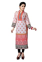 Fashion Galleria Women's White American Creap Kurti