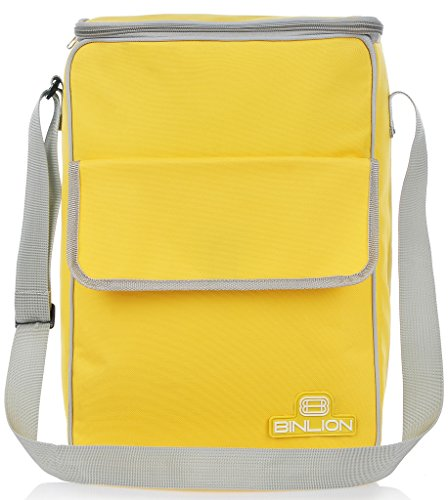 Binlion Lunch Cooler Tote Bag-Yellow (Personalized Cooler Tote compare prices)