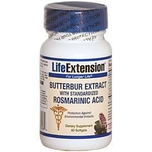 Butterbur Extract with Standardized Rosmarinic Acid, 60 softgels