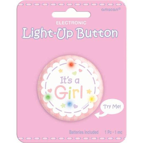 It's a Girl Light Up Button