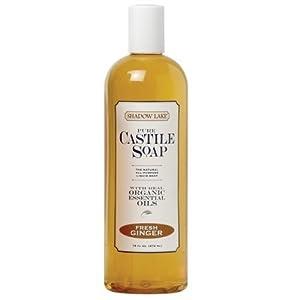 Shadow Lake Castile Soap Liquid, Fresh Ginger, 16-Ounce Bottles (Pack of 6) ( Value Bulk Multi-pack)