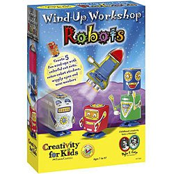 Bulk Buy: Creativity For Kids Wind-Up Workshop Robots (2-Pack)