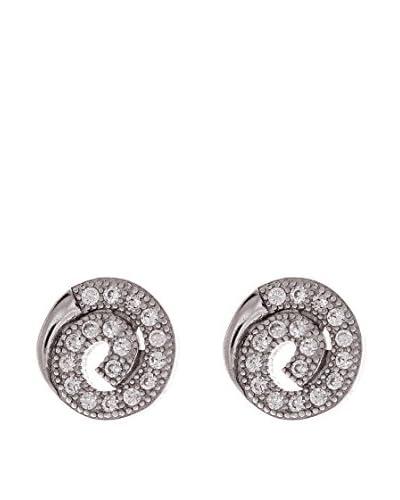 Silver One Pendientes Espiral Zirconium