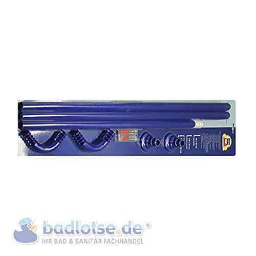 Duschvorhang Freistehende Dusche : Zudem Duschvorhang -Stange 170 x 75 cm ? 25 mm blau Winkelstange Bade
