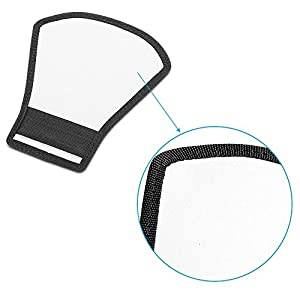Neewer® Flash Diffuser Silver/White Reflector for Nikon Speedlite SB-600,SB-800,SB-900,Canon Speedlite 380EX 430EX 550EX 580EX Vivita Flash Sunpack Sony Pentax Olympus Yongnuo Neewer Godox Flash