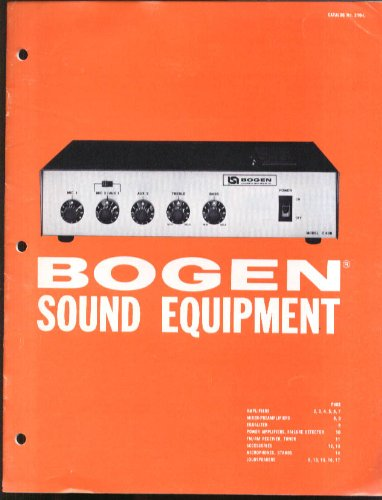 Bogen Amplifier Equalizer Fm-Am Receiver Microphone Speaker Catalog 1982